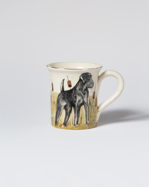 VIETRI  Wildlife Black Hunting Dog Mug $46.00