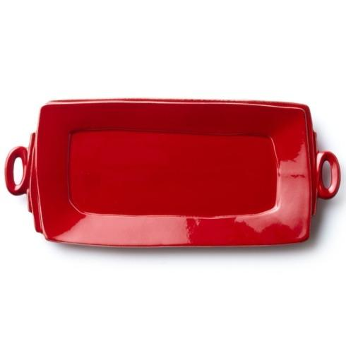 Vietri Lastra Red Handled Rectangular Platter $136.00