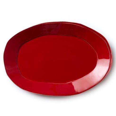 Vietri Lastra Red Oval Platter $138.00