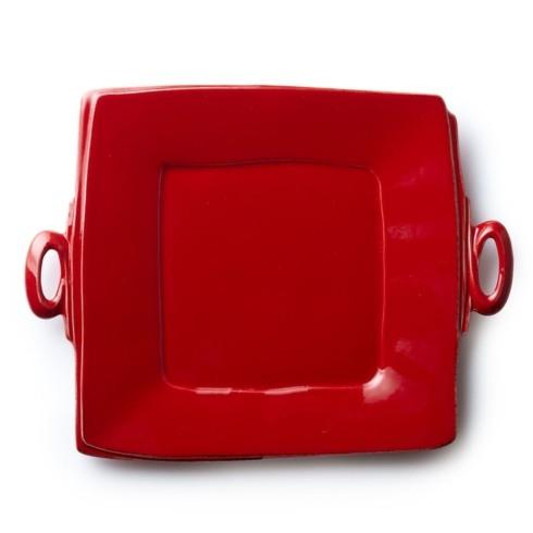 Vietri Lastra Red Lastra Red Handled Square Platter $134.00