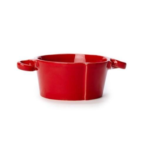 VIETRI Lastra Red Small Handled Bowl $51.00