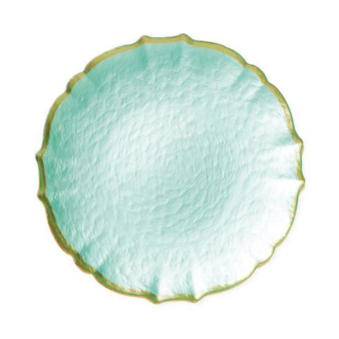Viva by Vietri  Viva Pastel Glass Aqua Salad Plate $24.00