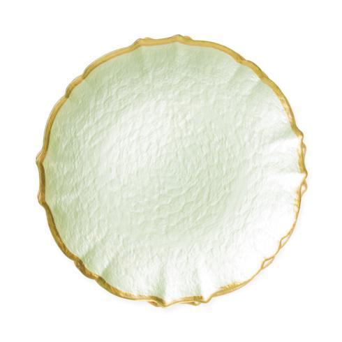 Viva by Vietri  Viva Pastel Glass Pistachio Salad Plate $24.00