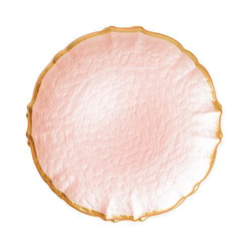 Viva by Vietri  Viva Pastel Glass Pink Salad Plate $24.00