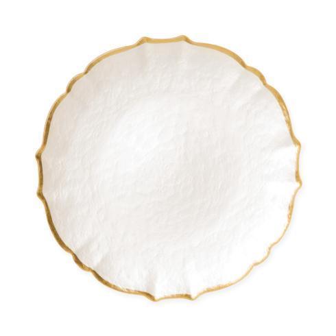 Viva by Vietri  Viva Pastel Glass White Salad Plate $22.00