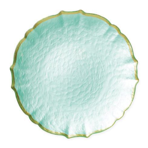 Viva by Vietri  Viva Pastel Glass Aqua Service Plate/Charger $37.00