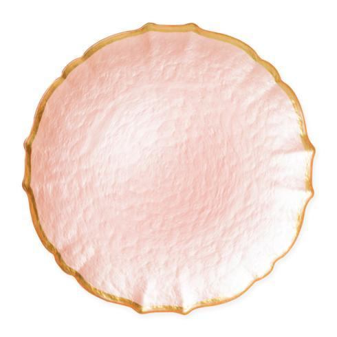 Viva by Vietri  Viva Pastel Glass Pink Service Plate/Charger $34.00