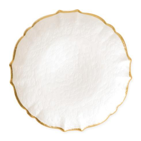 Viva by Vietri  Viva Pastel Glass White Service Plate/Charger $34.00