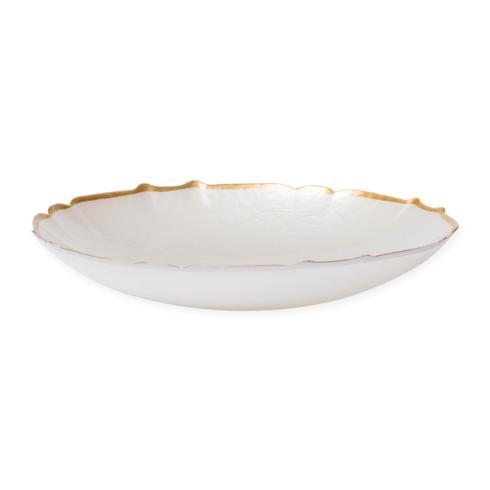 Viva by Vietri  Viva Pastel Glass White Medium Bowl $52.00