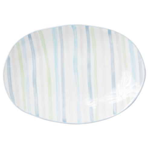 Viva by Vietri  Viva Stripe Small Oval Platter $56.00