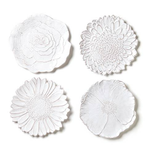 Vietri Bellezza Bloom Assorted White Flower Salad Plates (Price Each) $34.00