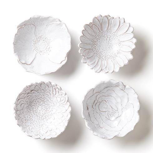 Vietri Bellezza Bloom Assorted White Flower Small Bowls (Price Each) $32.00