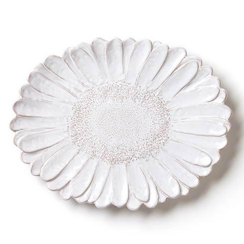 White Daisy Oval Platter <br>(1 in stock)
