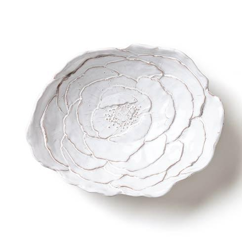 VIETRI Bellezza Bloom White Rose Serving Bowl $97.00