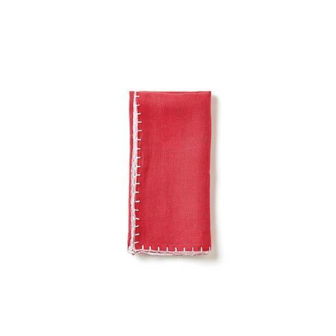 Vietri  Whipstitch Cranberry Napkin $22.00