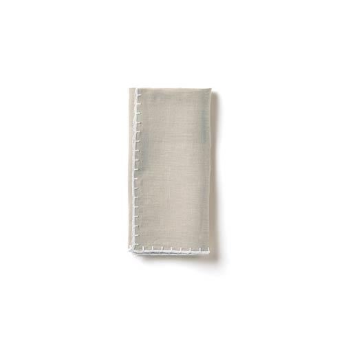VIETRI  Whipstitch Gray Napkin $22.00