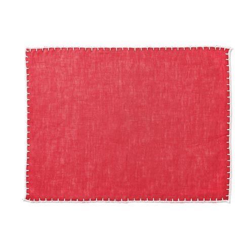 Vietri  Whipstitch Cranberry Placemat $20.00