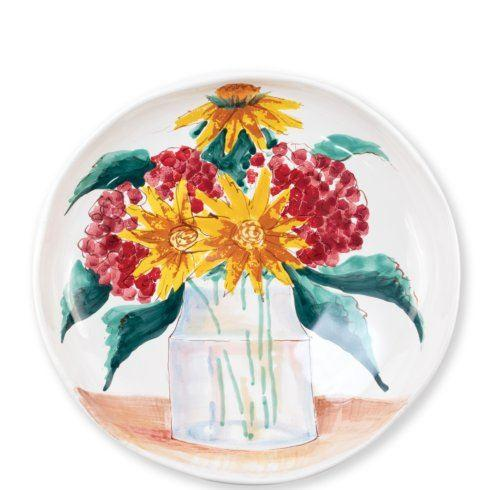 $138.00 Floral Bouquet Shallow Serving Bowl