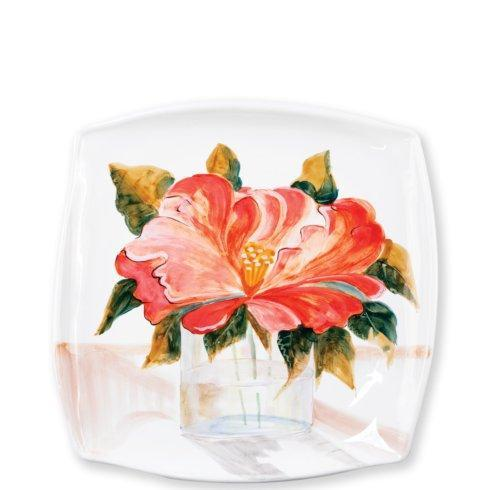 $128.00 Wall Plates Camellia Square Platter