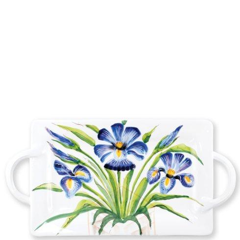 $214.00 Wall Plates Iris Handled Rectangular Platter