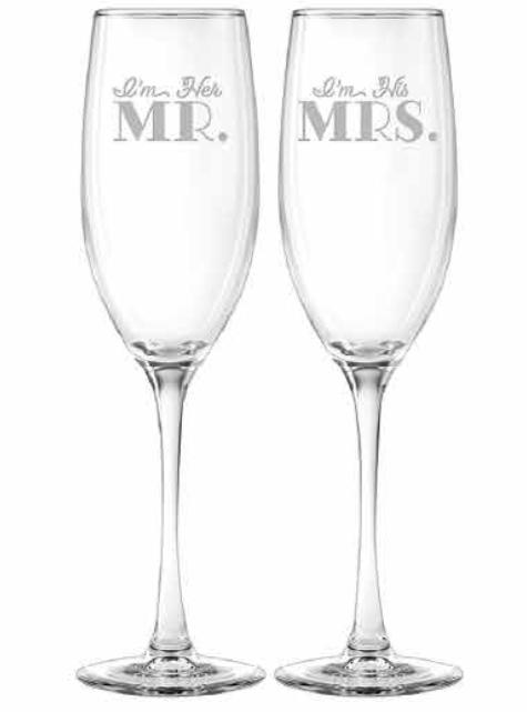 I'm Her Mr. & I'm His Mrs. flutes, s/2 collection with 1 products