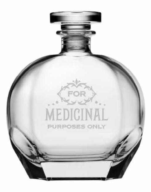 $58.00 For Medicinal Purposes Puccini Decanter