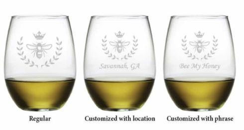 Vintage Bee Stemless Wine, s/4 collection with 1 products