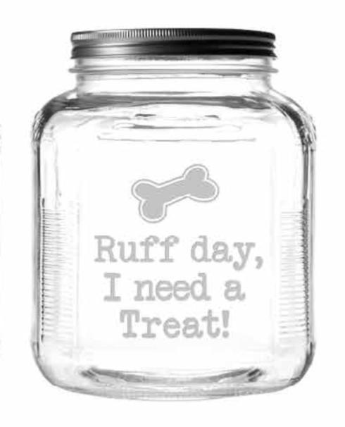 Ruff Day Jar with Brushed Lid