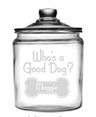Who\'s A Good Dog? Personalized Half Gallon Treat Jar and Lid