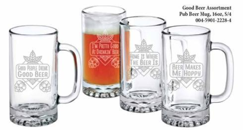 Good Beer Assortment Pub Beer Mug, s/4 collection with 1 products