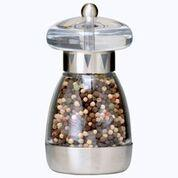 $18.50 MUSHROOM CLEAR TOP BRUSHED FINISH PEPPER MILL