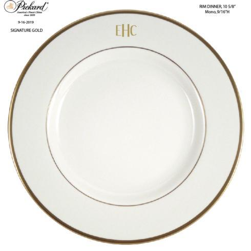 Ultra White Signature Mono Block #3 Gold EHC - Dinner Plate collection with 1 products