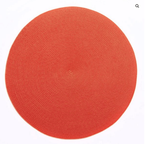 """$20.00 15"""" Round Placemat Coral"""