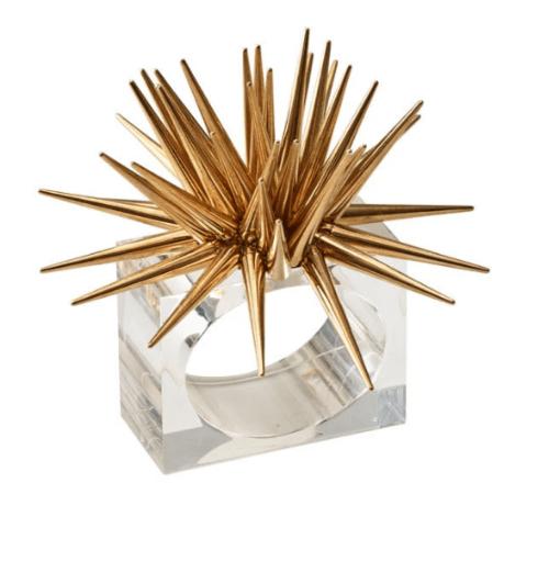 $112.00 Astrid Napkin Ring in Gold, Set of 4