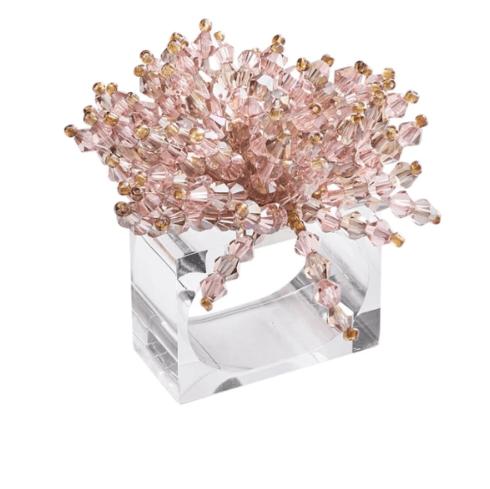 $120.00 Brilliant Napkin Ring in Blush, Set of 4