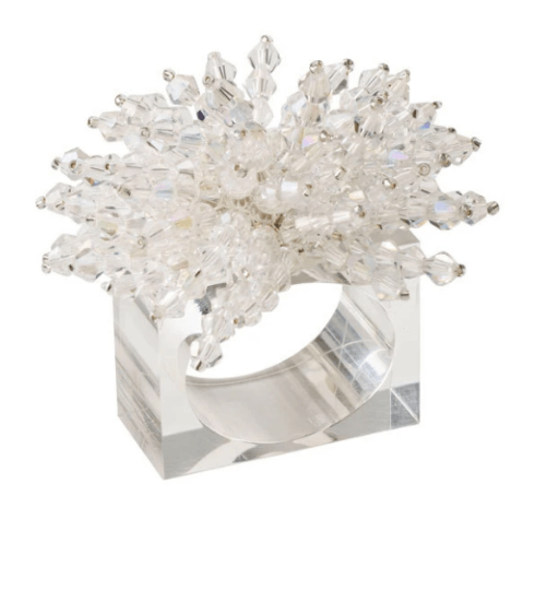 $120.00 Brilliant Napkin Ring in Clear, Set of 4