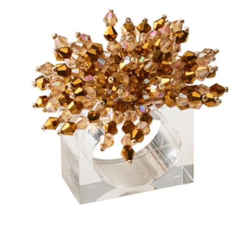 $120.00 Brilliant Napkin Ring in Gold, Set of 4