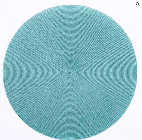 """$20.00 15"""" Round Placemat Aqua/Jade"""