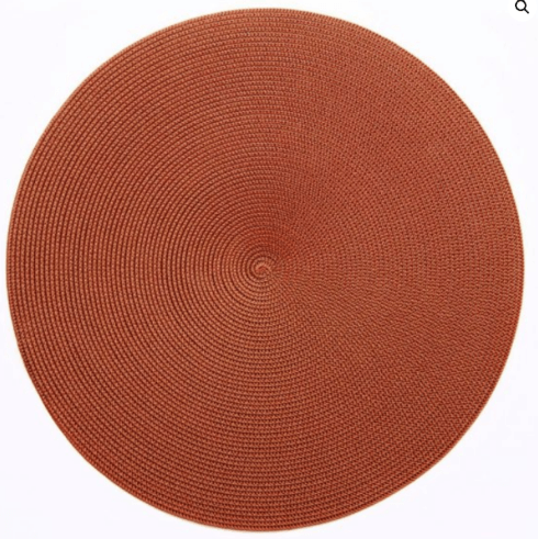 """$20.00 15"""" Round Placemat Brown/Copper"""