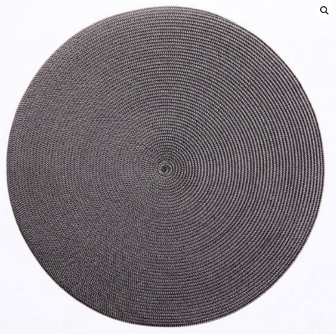 """$20.00 15"""" Round Placemat Brown/Grayy"""