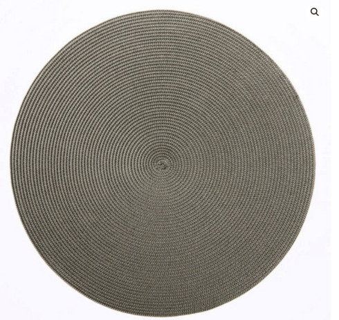 """$20.00 15"""" Round Placemat Brown/Moss"""