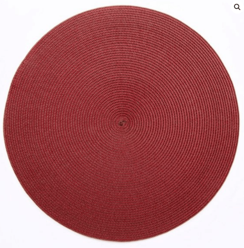 """$20.00 15"""" Round Placemat Brown/Red"""