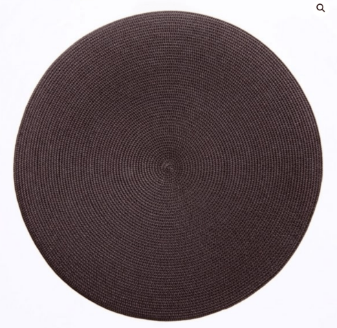 """$20.00 15"""" Round Placemat Chocolate"""