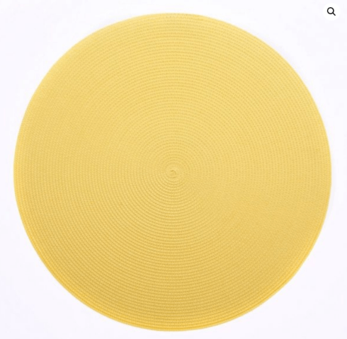 """$20.00 15"""" Round Placemat Daffodil"""