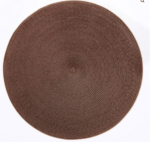 """$20.00 15"""" Round Placemat Brown/Burnt"""