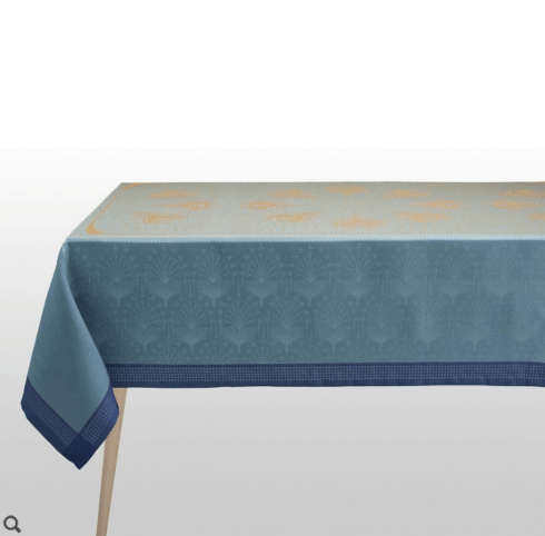 "$445.00 Le Jacquard Francais Tablecloth 69"" x 98"" Cabaret - Peacock"