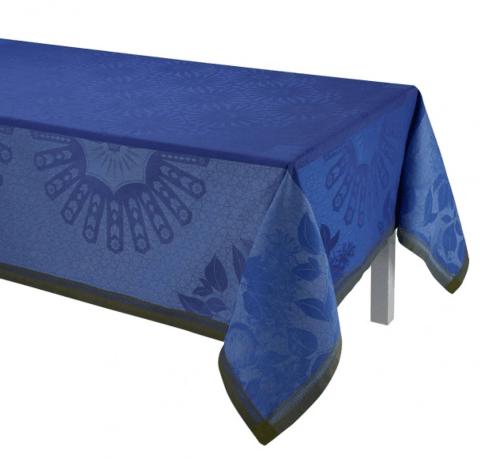 """$445.00 Le Jacquard Francais Tablecloth 69"""" x 98 Jardin d\'orient - Blue"""