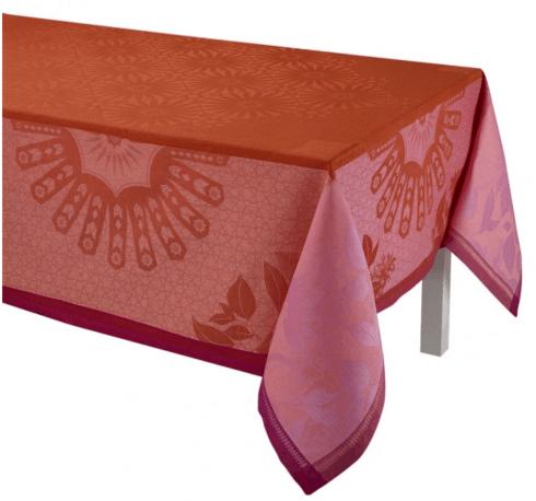 """$445.00 Le Jacquard Francais Tablecloth 69"""" x 98 Jardin d\'orient - Red"""