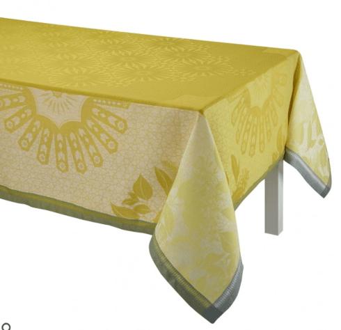 """$445.00 Le Jacquard Francais Tablecloth 69"""" x 98 Jardin d\'orient - Yellow"""