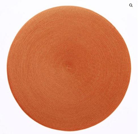 """$20.00 15"""" Round Placemat Burnt/Orange"""